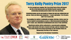 Terry Kelly Poetry Prize 2017