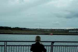 Young historian photographer the River Tyne for his book 'Our Custom Story'