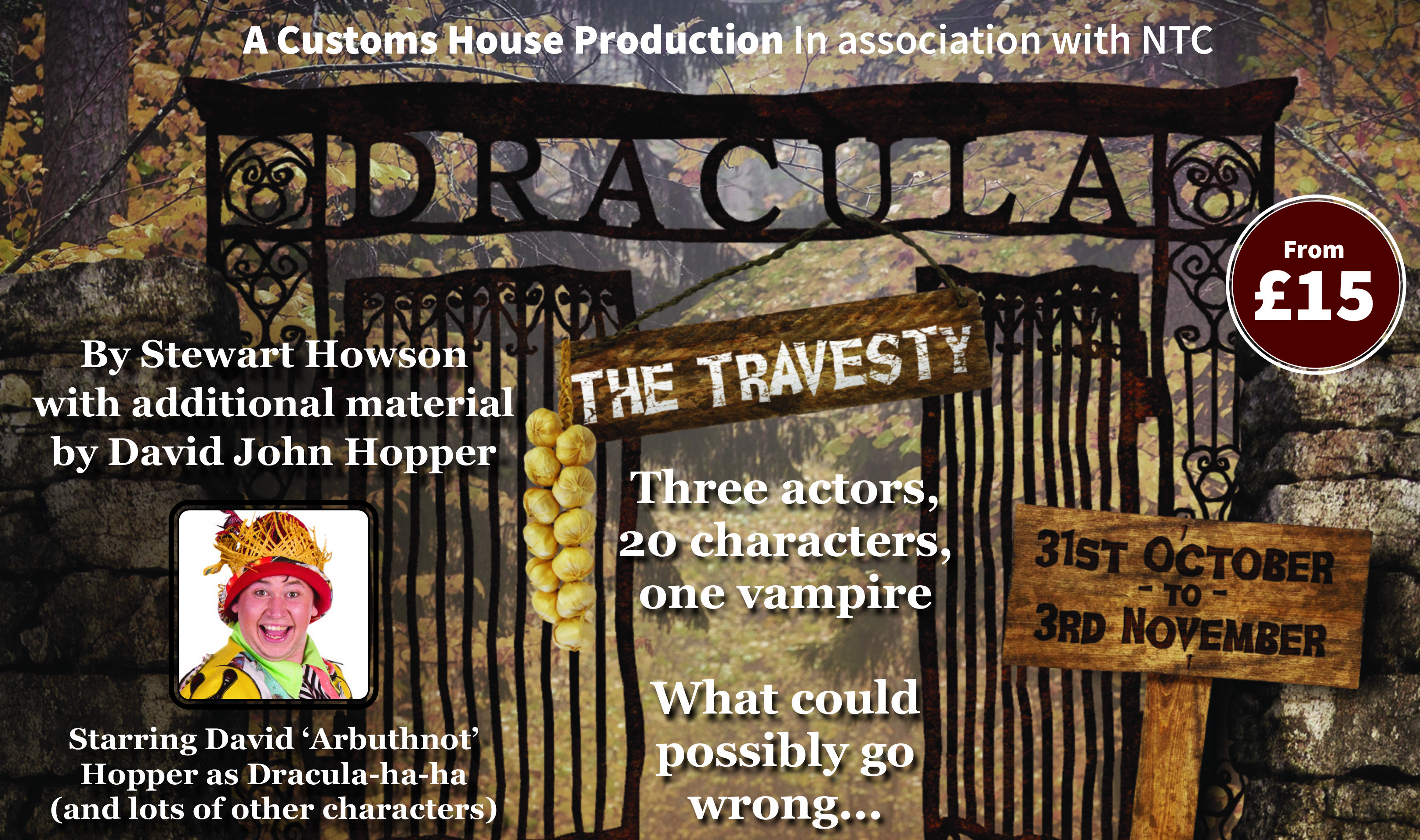 Custom Exhibition Stand Up Comedy : Casting call dracula the travesty the customs house