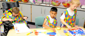 Young Artists Painting at Priory Woods (From the school's website)