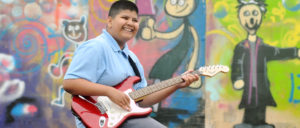 Guitarist from Priory Woods School (Photo from school's website)