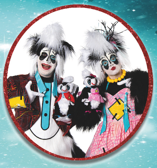 SNIFFY AND WHIFFY SOFT TOYS WILL KEEP THE PANTO MAGIC GOING AT HOME