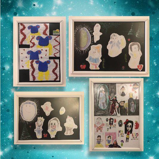 CHILDREN'S ARTWORK INSPIRED BY PANTO STORY