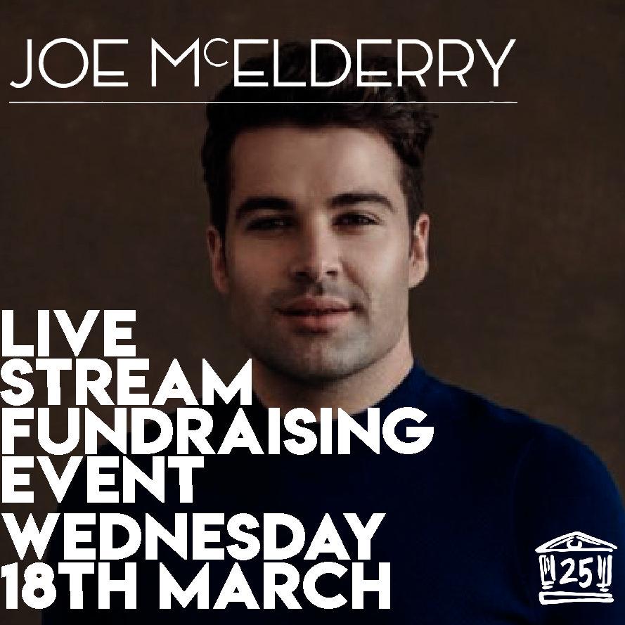 Joe McElderry Fundraising Event Streamed Live Tonight